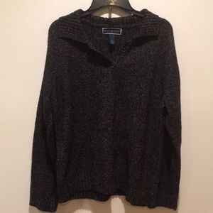 Karen Scott black and grey sweater
